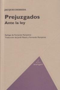 PREJUZGADOS ANTE LA LEY: portada