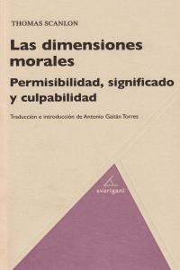 DIMENSIONES MORALES,LAS: portada