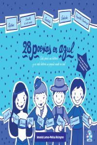 28 poes�as en azul: portada