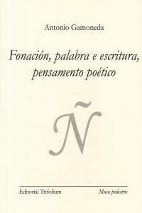 FONACION PALABRA E ESCRITURA PENSAMENTO POETICO - GALL: portada