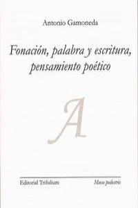 FONACION PALABRA Y ESCRITURA PENSAMIENTO POETICO: portada