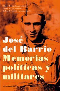 José del Barrio. Memorias políticas y militares: portada