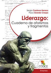 Liderazgo: Cuaderno de aforismos y fragmentos: portada