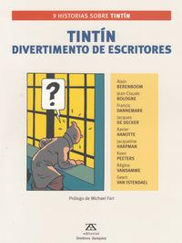 TINTÍN. DIVERTIMENTO DE ESCRITORES: portada