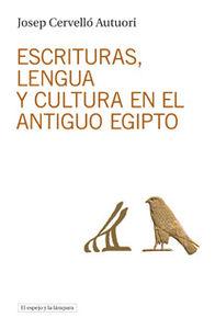 Escrituras, lengua y cultura en el antiguo Egipto: portada