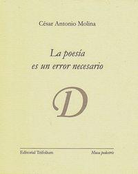 La poesía es un error necesario: portada