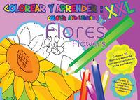 Colorear y aprender: Flores: portada