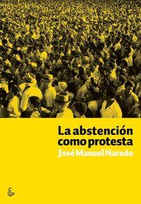 La abstención como protesta: portada