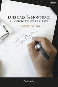 LUIS GARCÍA MONTERO, EL OFICIO DE UN REALISTA: portada