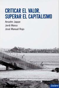 Criticar el valor, superar el capitalismo: portada