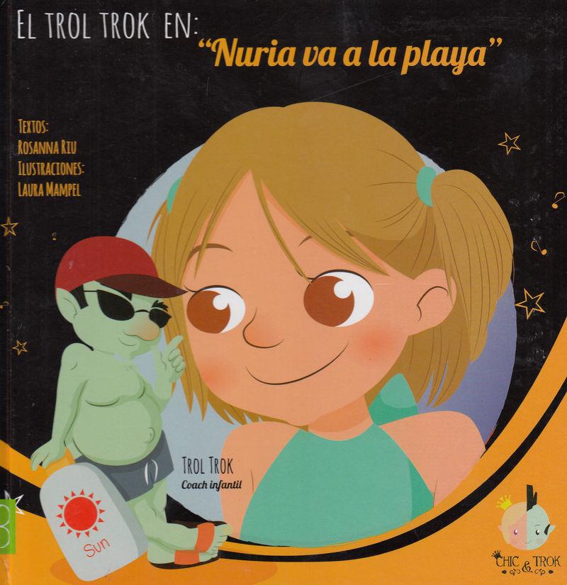 NURIA VA A LA PLAYA: portada