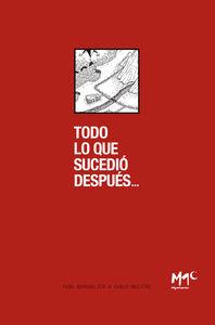 TODO LO QUE SUCEDIÓ DESPUES: portada