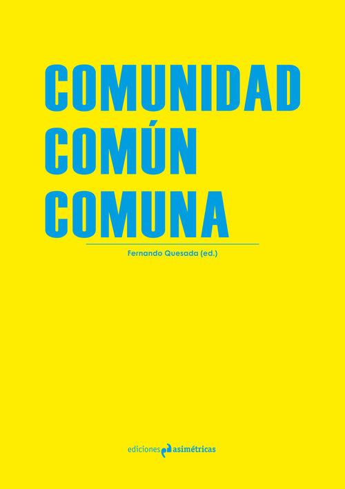 COMUNIDAD. COMÚN. COMUNA: portada