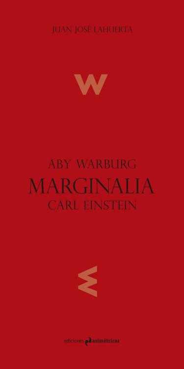 MARGINALIA. ABY WARBURG, CARL EINSTEIN: portada