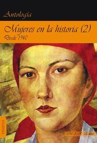 Mujeres en la historia (2) Desde 1940.: portada