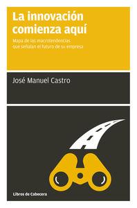 LA INNOVACIóN COMIENZA AQUí: portada