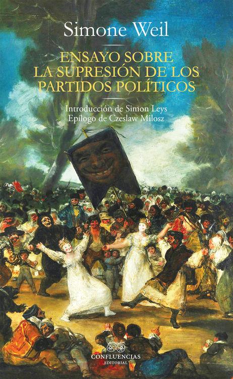Ensayo sobre la supresión de los partidos políticos: portada