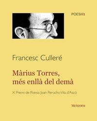 Màrius Torres, més enllà del demà: portada