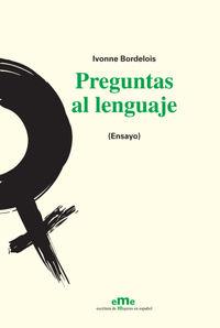 Preguntas al lenguaje: portada