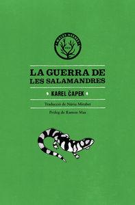 La guerra de les salamandres: portada