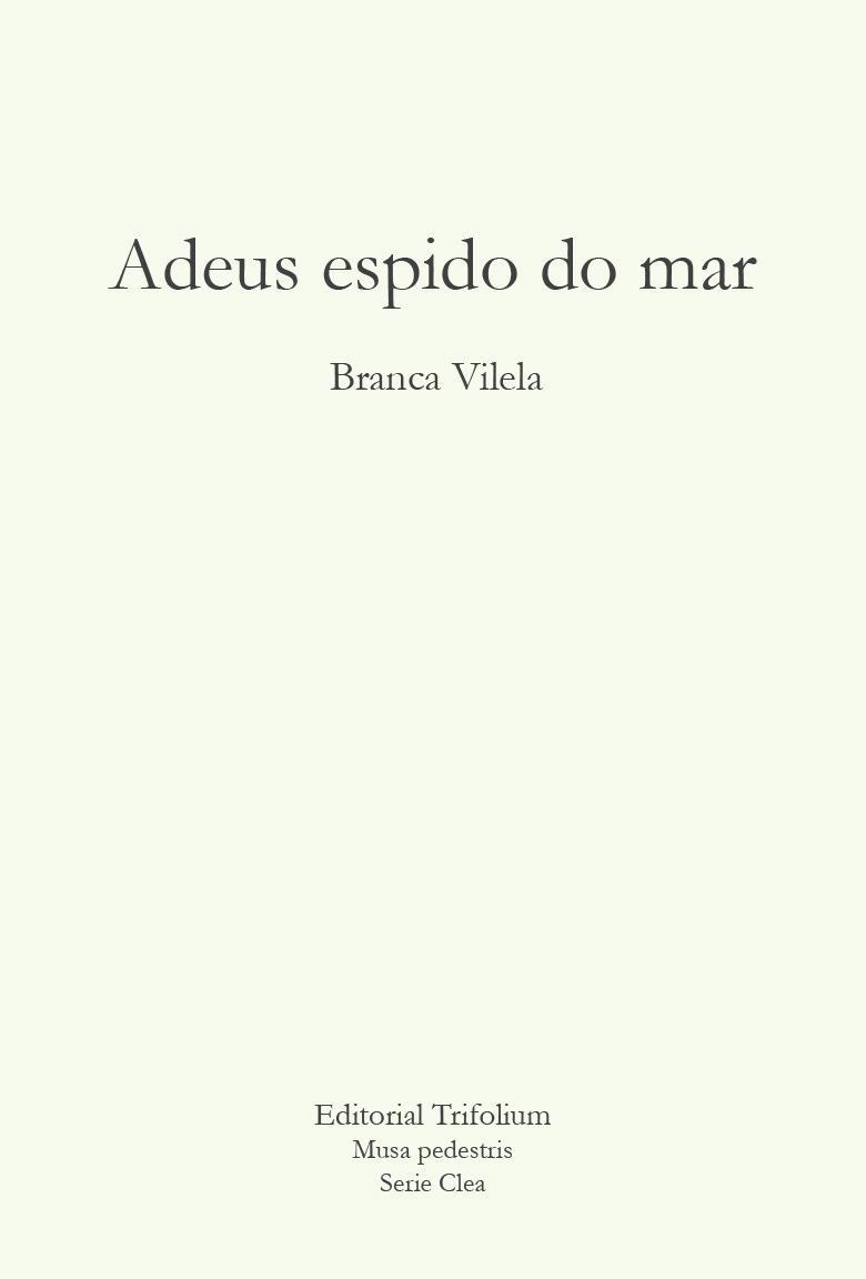 ADEUS ESPIDO DO MAR: portada