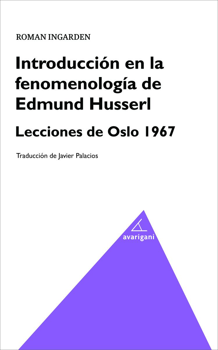 Introducción en la fenomenología de Edmund Husserl.: portada