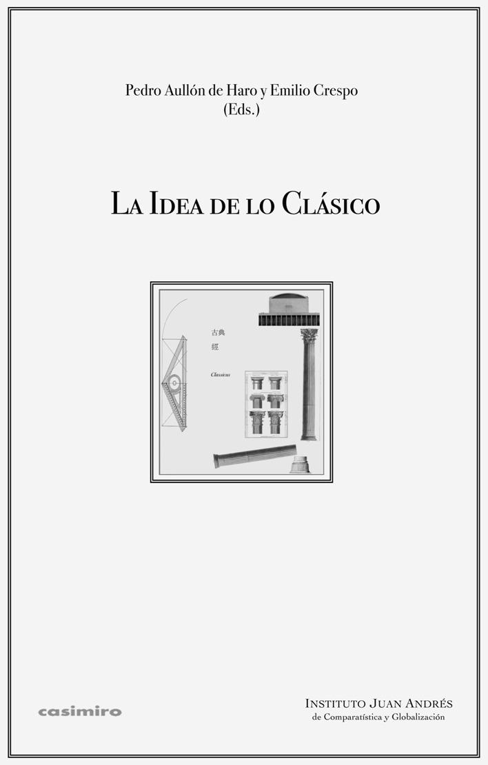 La idea de lo clásico: portada