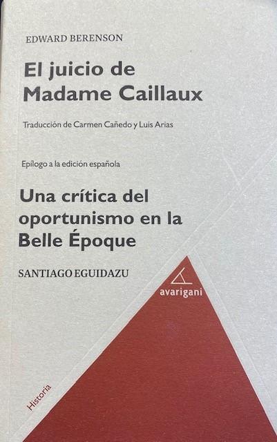 EL JUICIO DE MADAME CAILLAUX: portada