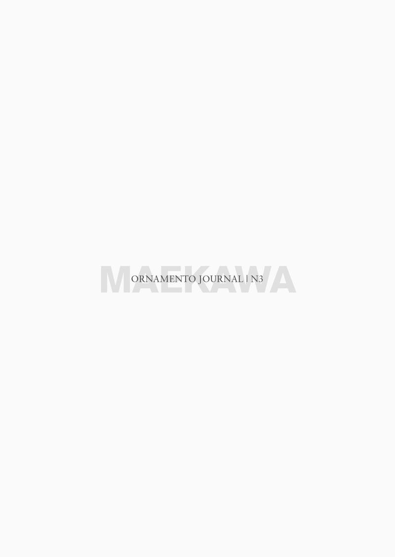 ORNAMENTO JOURNAL #3: MAEKAWA: portada