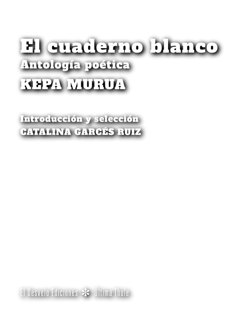 El cuaderno blanco: portada