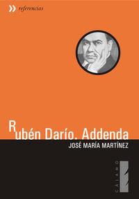 Rubén Darío. Addenda: portada