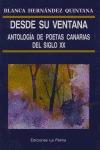 Desde su ventana, antología de poetas canarias del siglo XX: portada