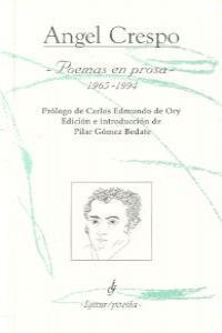 POEMAS EN PROSA 1965-1994: portada