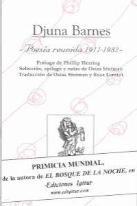 POESIA REUNIDA 1911 - 1982: portada