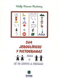 564 JEROGLIFICOS Y PICTOGRAMAS O TE INVITO A PENSAR: portada