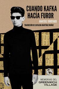 Cuando Kafka hacía furor: portada