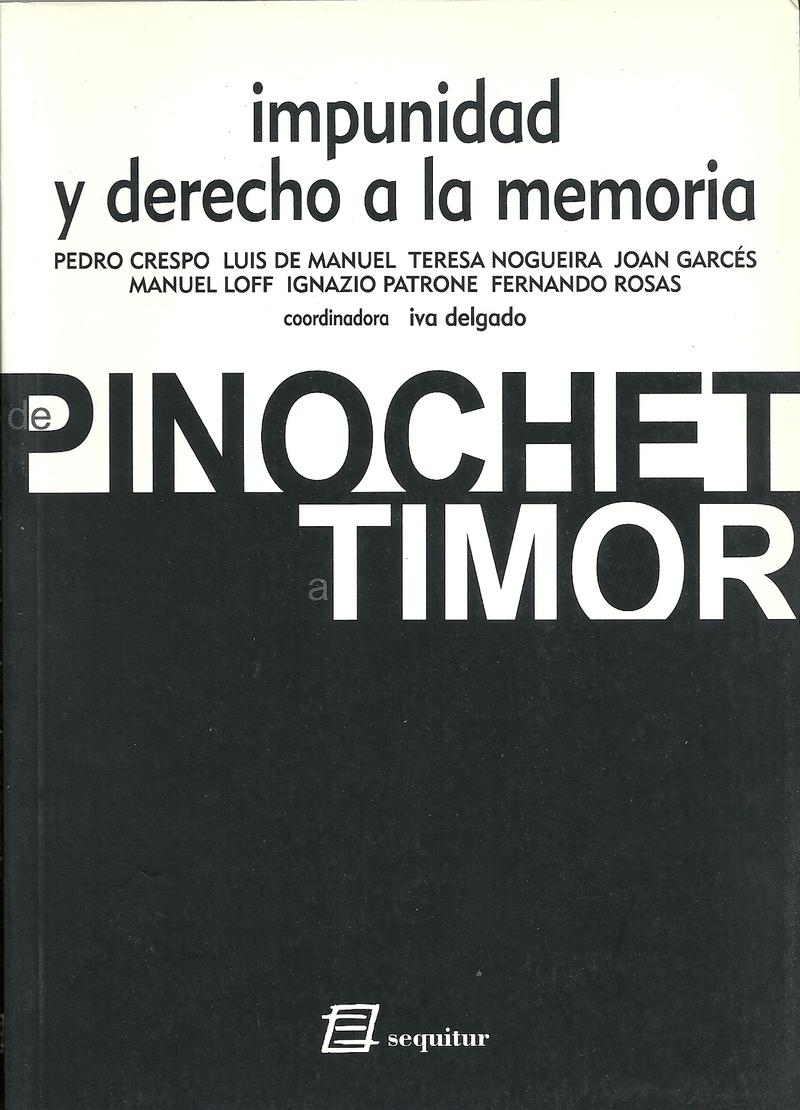 IMPUNIDAD Y DERECHO A LA MEMORIA: portada
