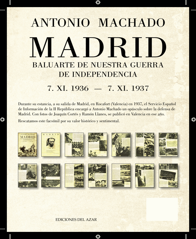 MADRID BALUARTE DE NUESTRA GUERRA DE INDEPENDENCIA: portada
