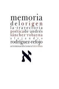 MEMORIA DEL ORIGEN: portada