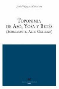 Toponimia de Aso, Yosa y Betés (Sobremonte, Alto Gállego): portada