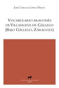 Vocabulario aragonés de Villanueva de Gállego (Zaragoza): portada