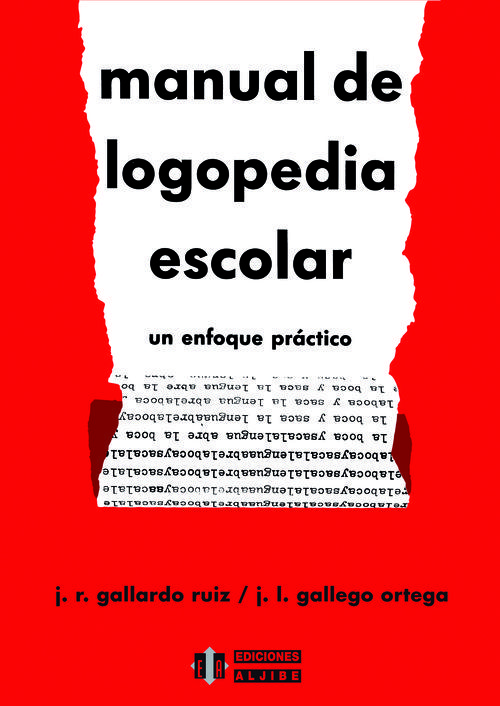 MANUAL DE LOGOPEDIA ESCOLAR: portada