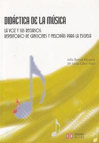 DIDACTICA DE LA MUSICA: portada