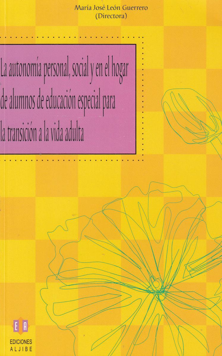 AUTONOMIA PERSOAL SOCIAL Y EN EL HOGAR DE ALUMNOS EN ED.: portada