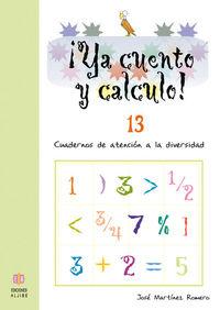 YA CUENTO Y CALCULO 13: portada