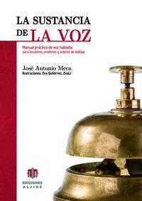 SUSTANCIA DE LA VOZ,LA: portada