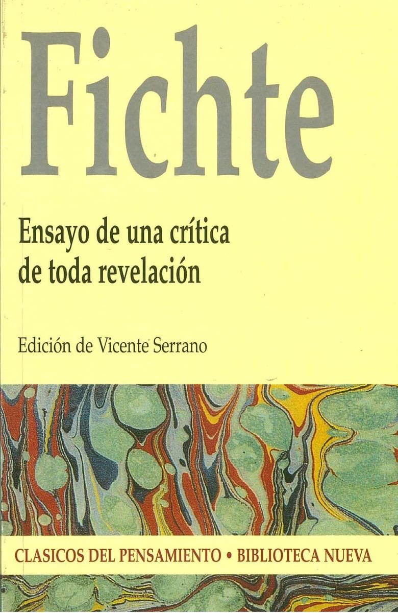 ENSAYO DE UNA CR�TICA DE TODA REVELACI�N: portada