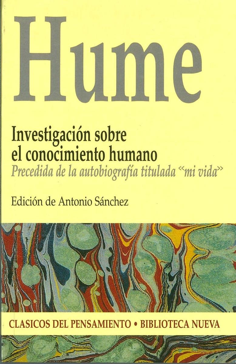 INVESTIGACIÓN SOBRE EL CONOCIMIENTO HUMANO.: portada