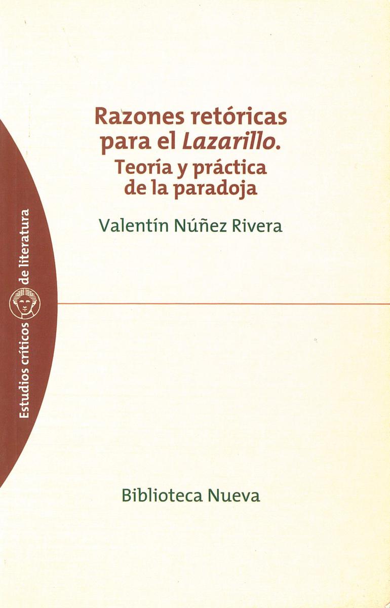 RAZONES RETÓRICAS PARA EL LAZARILLO: portada