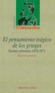 EL PENSAMIENTO TRÁGICO DE LOS GRIEGOS: portada